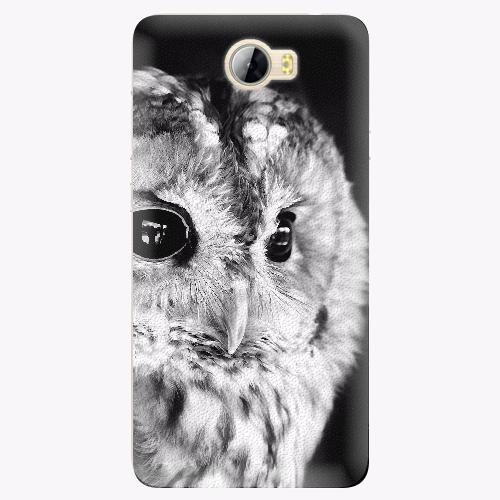 Silikonové pouzdro iSaprio - BW Owl na mobil Huawei Y5 II / Y6 II Compact
