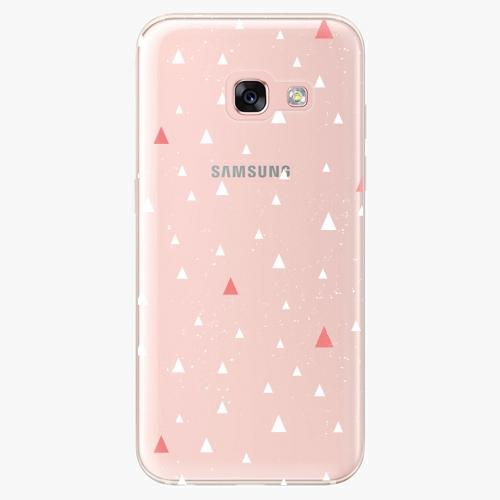 Silikonové pouzdro iSaprio - Abstract Triangles 02 white na mobil Samsung Galaxy A3 2017
