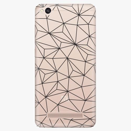 Silikonové pouzdro iSaprio - Abstract Triangles 03 black na mobil Xiaomi Redmi 4A