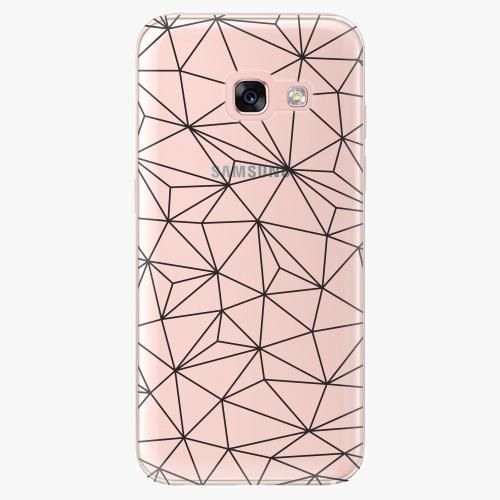 Silikonové pouzdro iSaprio - Abstract Triangles 03 black na mobil Samsung Galaxy A3 2017