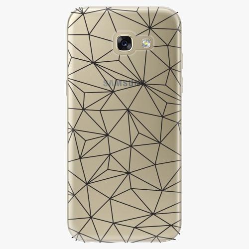 Silikonové pouzdro iSaprio - Abstract Triangles 03 black na mobil Samsung Galaxy A5 2017
