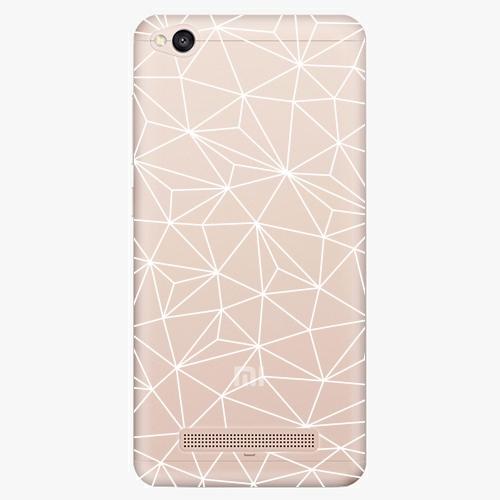 Silikonové pouzdro iSaprio - Abstract Triangles 03 white na mobil Xiaomi Redmi 4A