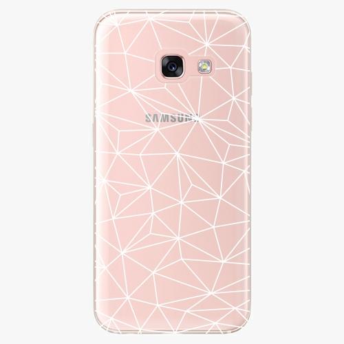 Silikonové pouzdro iSaprio - Abstract Triangles 03 white na mobil Samsung Galaxy A3 2017
