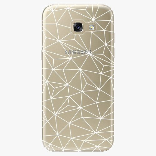 Silikonové pouzdro iSaprio - Abstract Triangles 03 white na mobil Samsung Galaxy A5 2017