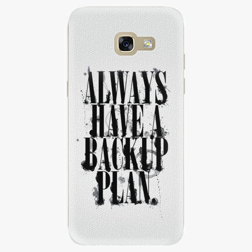 Silikonové pouzdro iSaprio - Backup Plan na mobil Samsung Galaxy A5 2017