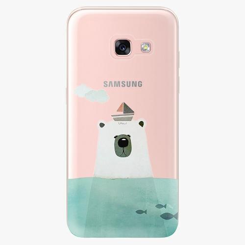 Silikonové pouzdro iSaprio - Bear With Boat na mobil Samsung Galaxy A3 2017