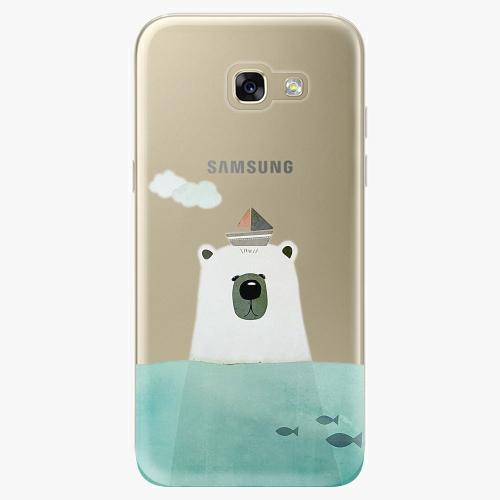 Silikonové pouzdro iSaprio - Bear With Boat na mobil Samsung Galaxy A5 2017