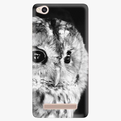 Silikonové pouzdro iSaprio - BW Owl na mobil Xiaomi Redmi 4A