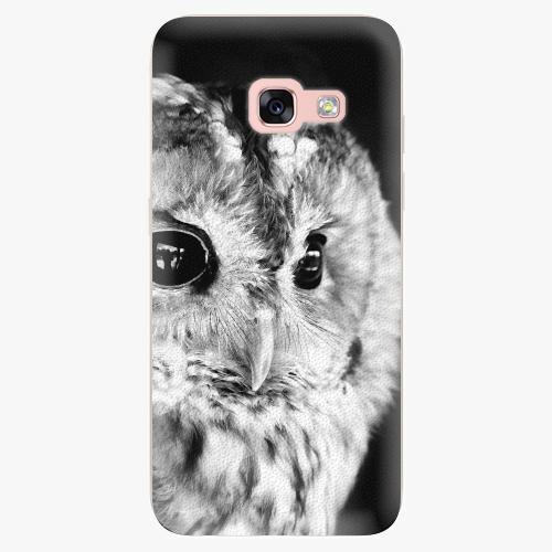 Silikonové pouzdro iSaprio - BW Owl na mobil Samsung Galaxy A3 2017