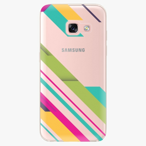 Silikonové pouzdro iSaprio - Color Stripes 03 na mobil Samsung Galaxy A3 2017