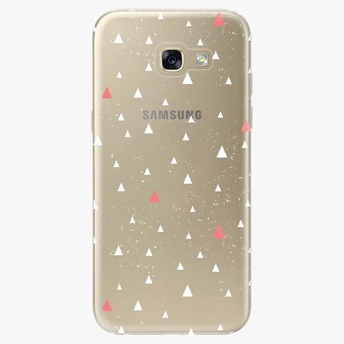Silikonové pouzdro iSaprio - Abstract Triangles 02 – white – Samsung Galaxy A5 2017