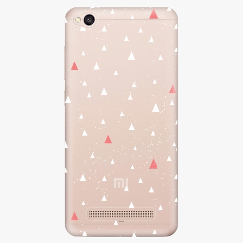 Silikonové pouzdro iSaprio - Abstract Triangles 02 white na mobil Xiaomi Redmi 4A