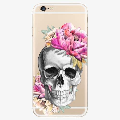 Silikonové pouzdro iSaprio - Pretty Skull na mobil Apple iPhone 6/ 6S
