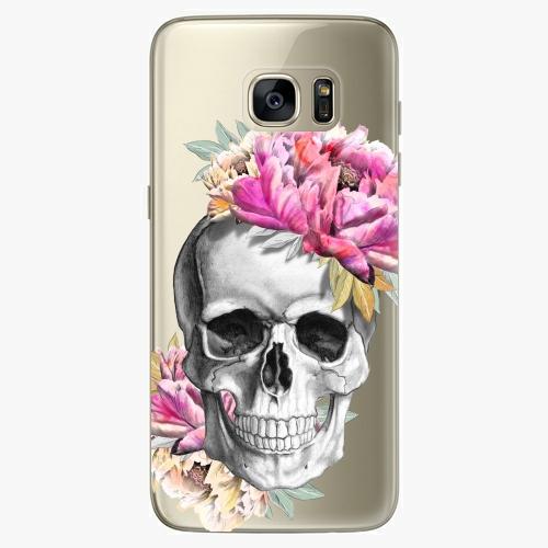 Silikonové pouzdro iSaprio - Pretty Skull na mobil Samsung Galaxy S7 Edge (Silikonový obal, pouzdro, kryt iSaprio s motivem Pretty Skull na mobilní telefon Samsung Galaxy S7 Edge)
