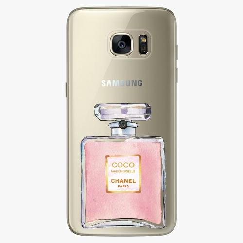 Silikonové pouzdro iSaprio - Chanel Rose na mobil Samsung Galaxy S7 Edge (Silikonový obal, pouzdro, kryt iSaprio s motivem Chanel Rose na mobilní telefon Samsung Galaxy S7 Edge)