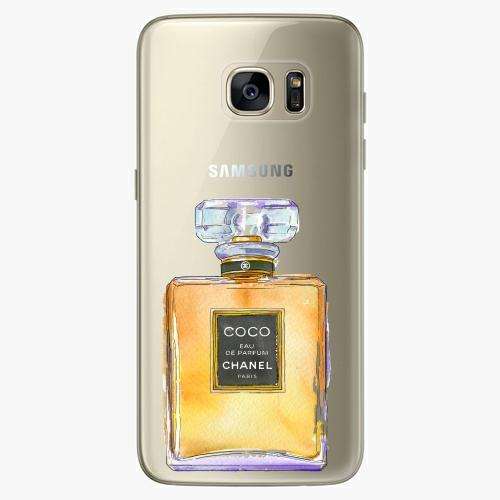Silikonové pouzdro iSaprio - Chanel Gold na mobil Samsung Galaxy S7 (Silikonový obal, pouzdro, kryt iSaprio s motivem Chanel Gold na mobilní telefon Samsung Galaxy S7)