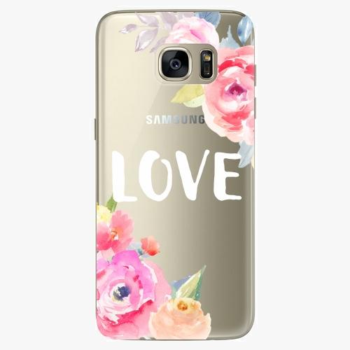 Silikonové pouzdro iSaprio - Love na mobil Samsung Galaxy S7 Edge (Silikonový obal, pouzdro, kryt iSaprio s motivem Love na mobilní telefon Samsung Galaxy S7 Edge)