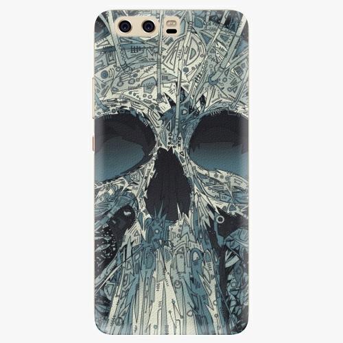 Silikonové pouzdro iSaprio - Abstract Skull na mobil Huawei P10