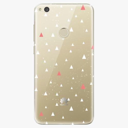 Silikonové pouzdro iSaprio - Abstract Triangles 02 white na mobil Huawei P9 Lite 2017