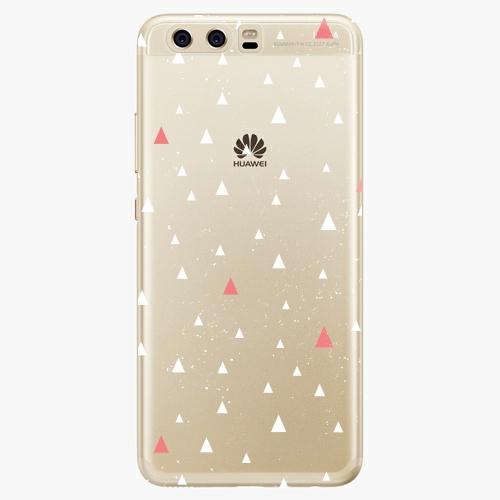 Silikonové pouzdro iSaprio - Abstract Triangles 02 white na mobil Huawei P10