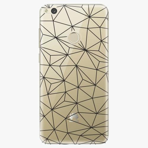 Silikonové pouzdro iSaprio - Abstract Triangles 03 black na mobil Huawei P9 Lite 2017