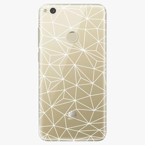 Silikonové pouzdro iSaprio - Abstract Triangles 03 white na mobil Huawei P9 Lite 2017