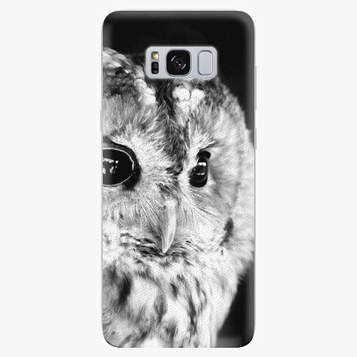 Silikonové pouzdro iSaprio - BW Owl na mobil Samsung Galaxy S8