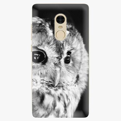 Silikonové pouzdro iSaprio - BW Owl na mobil Xiaomi Redmi Note 4
