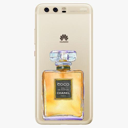 Silikonové pouzdro iSaprio - Chanel Gold na mobil Huawei P10