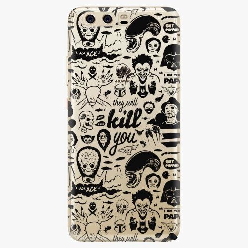 Silikonové pouzdro iSaprio - Comics 01 na mobil Huawei P10