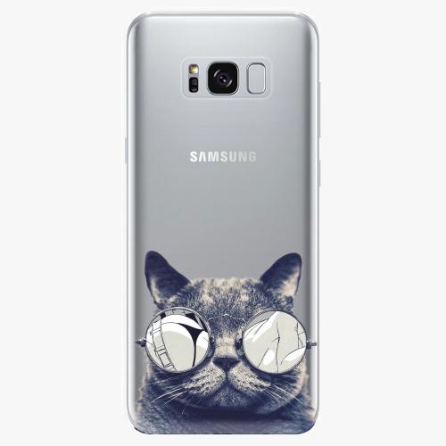 Silikonové pouzdro iSaprio - Crazy Cat 01 na mobil Samsung Galaxy S8
