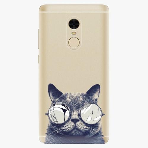 Silikonové pouzdro iSaprio - Crazy Cat 01 na mobil Xiaomi Redmi Note 4