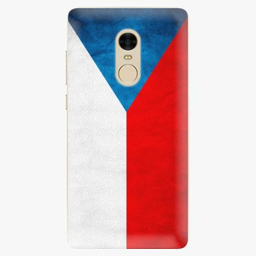 Silikonové pouzdro iSaprio - Czech Flag na mobil Xiaomi Redmi Note 4