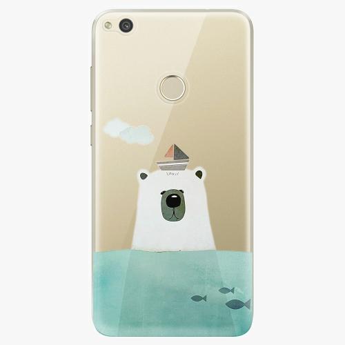 Silikonové pouzdro iSaprio - Bear With Boat na mobil Huawei P9 Lite 2017