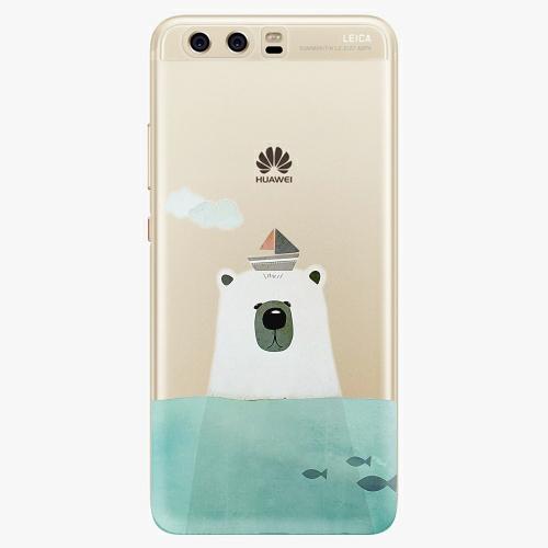Silikonové pouzdro iSaprio - Bear With Boat na mobil Huawei P10