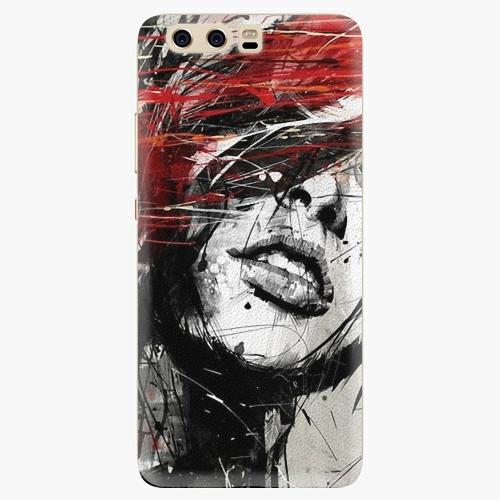 Silikonové pouzdro iSaprio - Sketch Face na mobil Huawei P10
