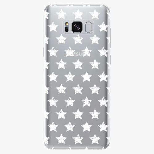 Silikonové pouzdro iSaprio - Stars Pattern white na mobil Samsung Galaxy S8