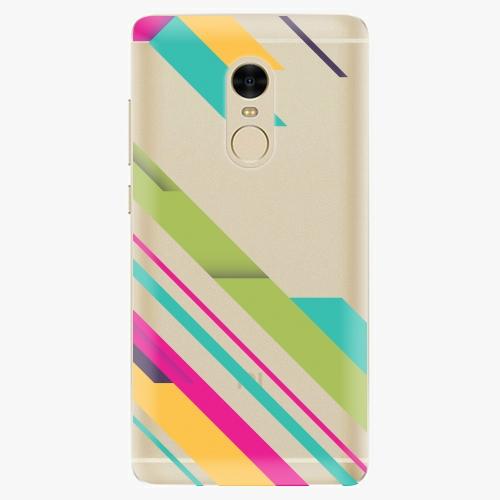 Silikonové pouzdro iSaprio - Color Stripes 03 na mobil Xiaomi Redmi Note 4