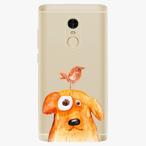 Silikonové pouzdro iSaprio - Dog and Bird na mobil Xiaomi Redmi Note 4