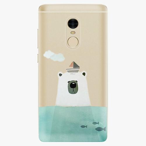 Silikonové pouzdro iSaprio - Bear With Boat na mobil Xiaomi Redmi Note 4