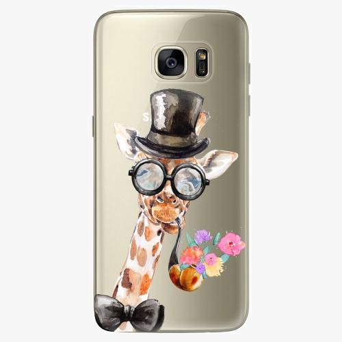 Silikonové pouzdro iSaprio - Sir Giraffe na mobil Samsung Galaxy S7 Edge (Silikonový obal, pouzdro, kryt iSaprio s motivem Sir Giraffe na mobilní telefon Samsung Galaxy S7 Edge)