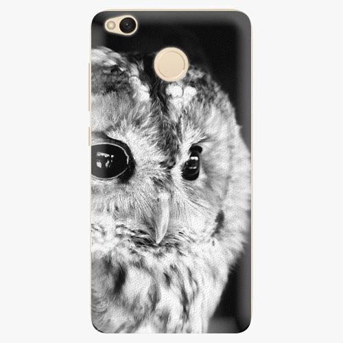 Silikonové pouzdro iSaprio - BW Owl na mobil Xiaomi Redmi 4X