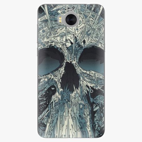 Silikonové pouzdro iSaprio - Abstract Skull na mobil Huawei Y6 2017