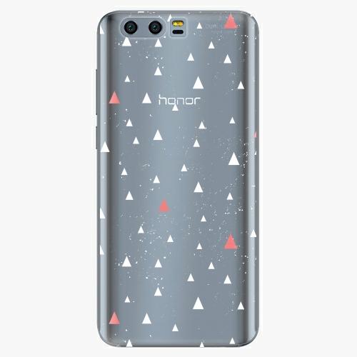 Silikonové pouzdro iSaprio - Abstract Triangles 02 white na mobil Honor 9