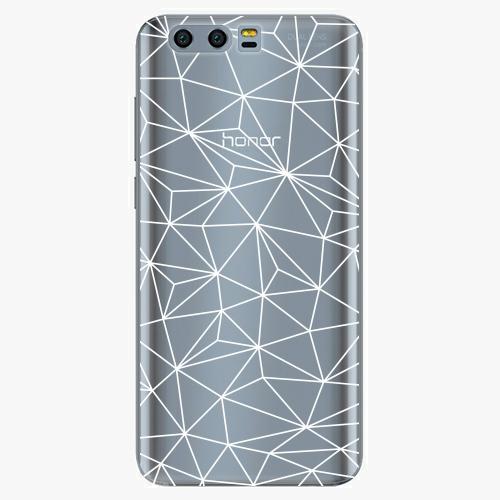 Silikonové pouzdro iSaprio - Abstract Triangles 03 white na mobil Honor 9