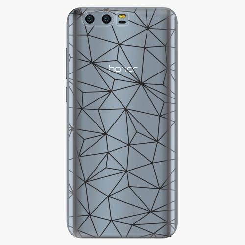 Silikonové pouzdro iSaprio - Abstract Triangles 03 black na mobil Honor 9
