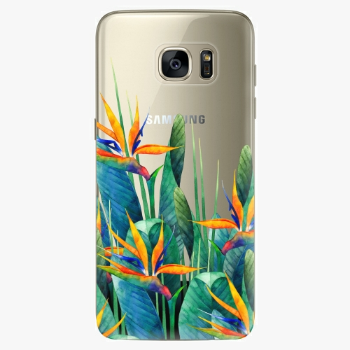 Silikonové pouzdro iSaprio - Exotic Flowers na mobil Samsung Galaxy S7 Edge (Silikonový obal, pouzdro, kryt iSaprio s motivem Exotic Flowers na mobilní telefon Samsung Galaxy S7 Edge)