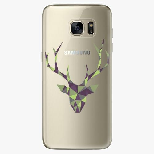 Silikonové pouzdro iSaprio - Deer Green na mobil Samsung Galaxy S7 Edge (Silikonový obal, pouzdro, kryt iSaprio s motivem Deer Green na mobilní telefon Samsung Galaxy S7 Edge)