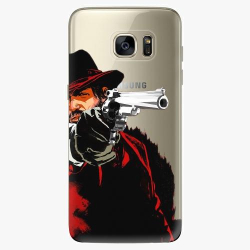 Silikonové pouzdro iSaprio - Red Sheriff na mobil Samsung Galaxy S7 Edge (Silikonový obal, pouzdro, kryt iSaprio s motivem Red Sheriff na mobilní telefon Samsung Galaxy S7 Edge)