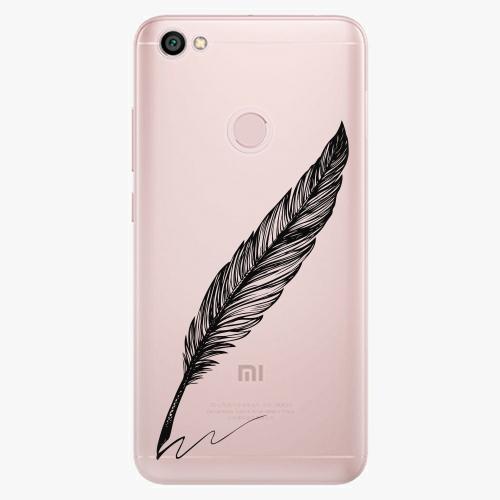 Silikonové pouzdro iSaprio - Writing By Feather black na mobil Xiaomi Redmi Note 5A / 5A Prime
